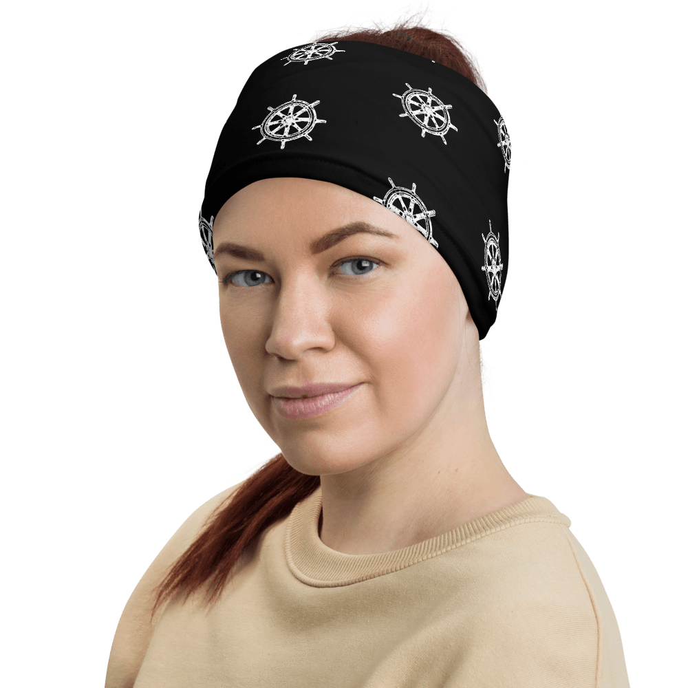 SaltWater Brewery Captains Wheel Pattern Neck Gaiter