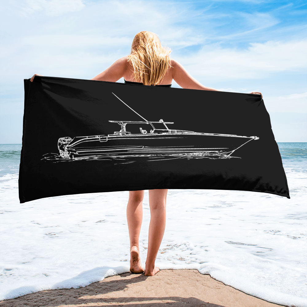 SaltWater Brewery Center Console Towel