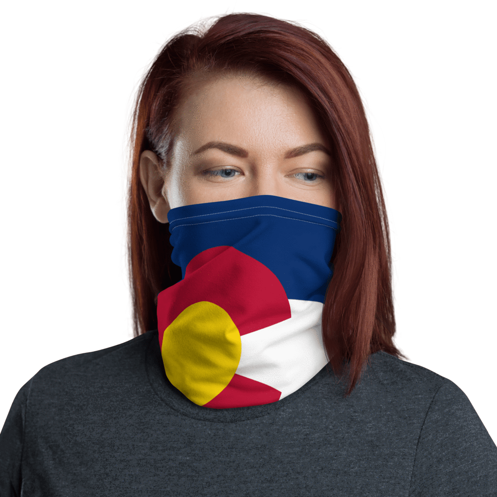 SaltWater Brewery Colorado Flag Neck Gaiter