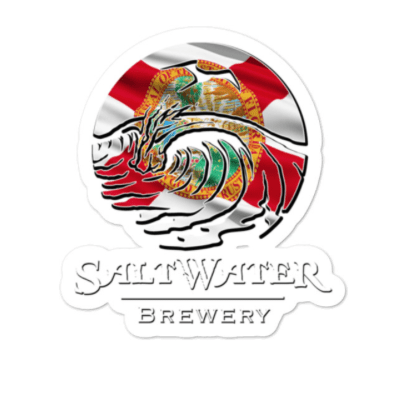 SaltWater Brewery Florida Flag Logo Sticker