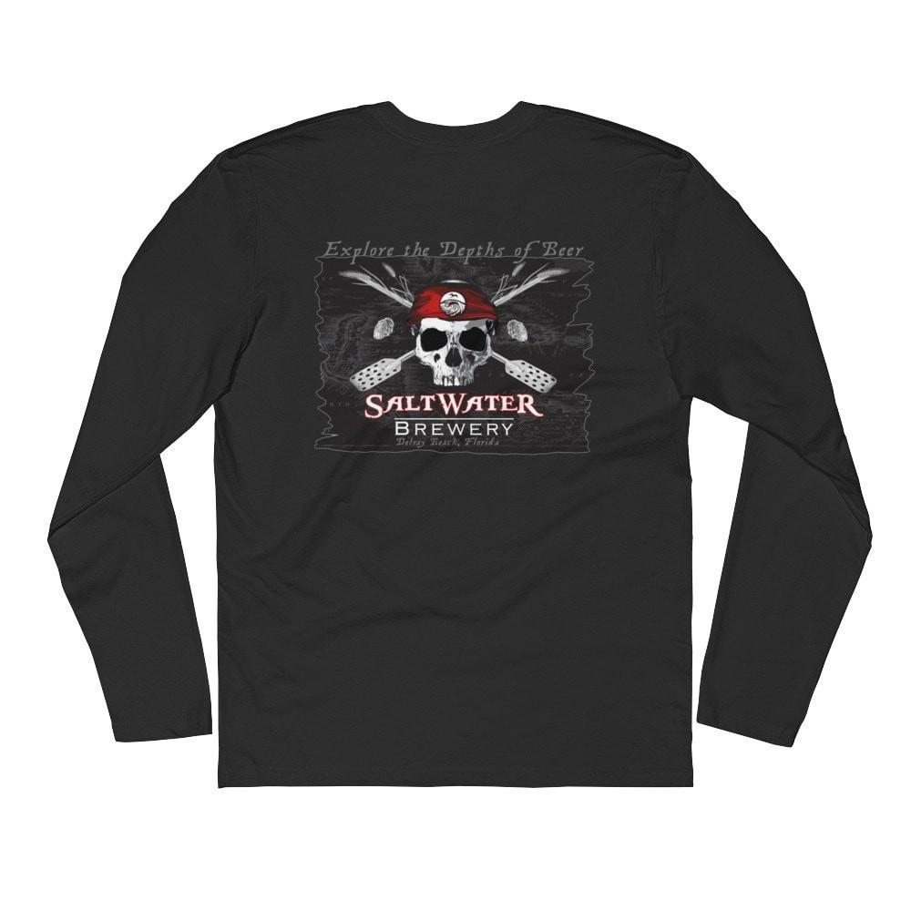 SaltWater Brewery Jolly Roger - Long Sleeve Fitted Crew