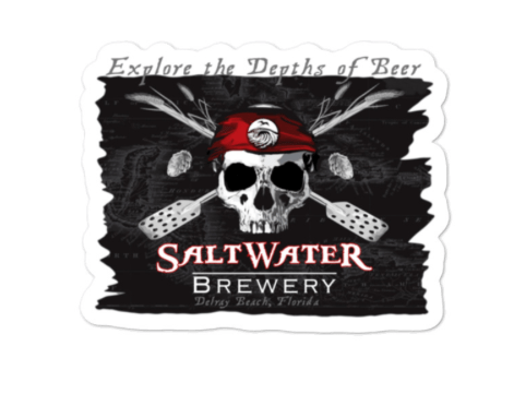 SaltWater Brewery Jolly Roger Sticker