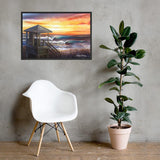 Summer Swell Framed Print