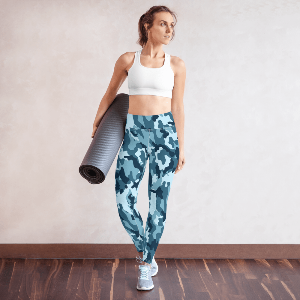 SaltWater Brewery Marine Camo Yoga Leggings