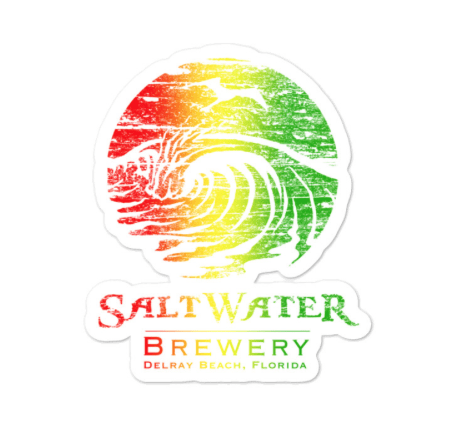 SaltWater Brewery Rasta Sticker
