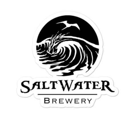 SaltWater Brewery Saltwater Black Logo Sticker