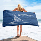 Saltwater Brewery Express Beach Towel