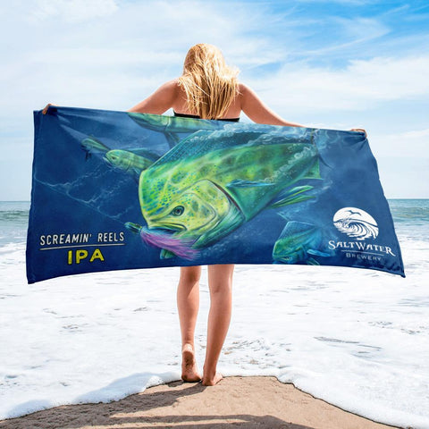 SaltWater Brewery Screamin' Reels Beach Towel