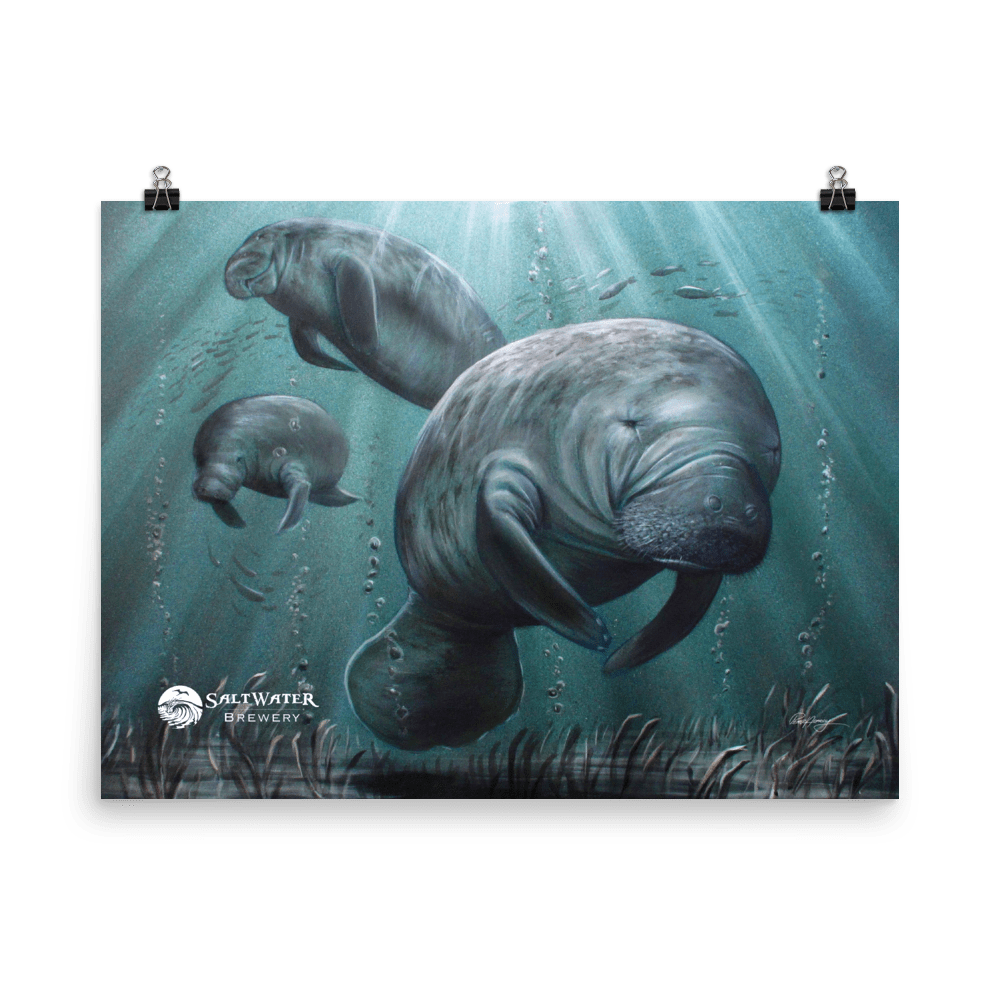 SaltWater Brewery Sea Cow Poster