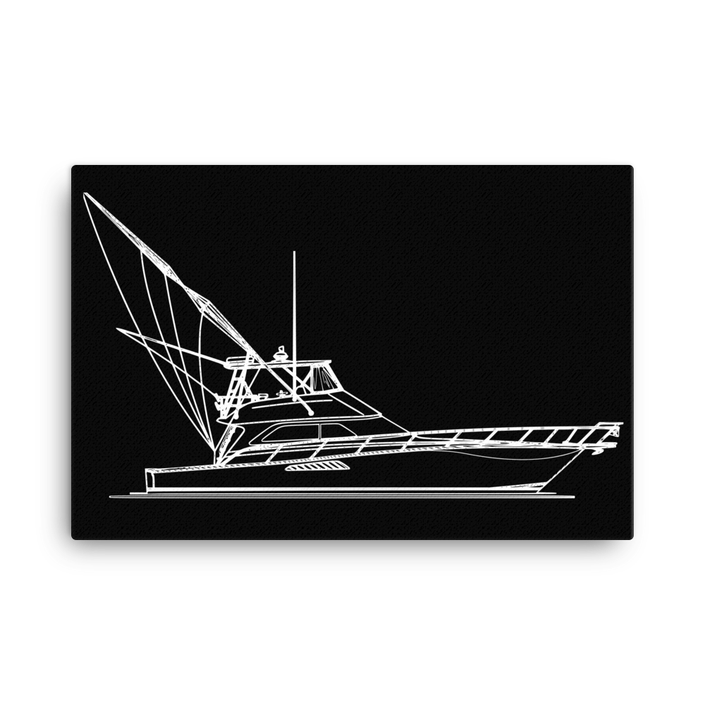 SaltWater Brewery Sportfish Negative Canvas