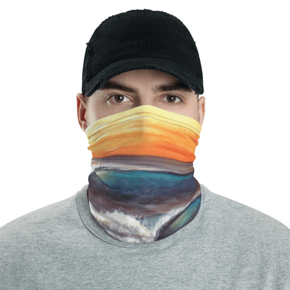 SaltWater Brewery Sunrise Wave Neck gaiter