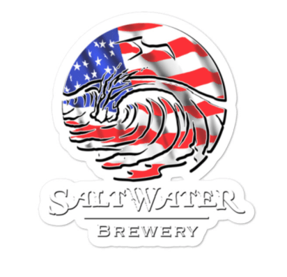 SaltWater Brewery USA Logo Sticker