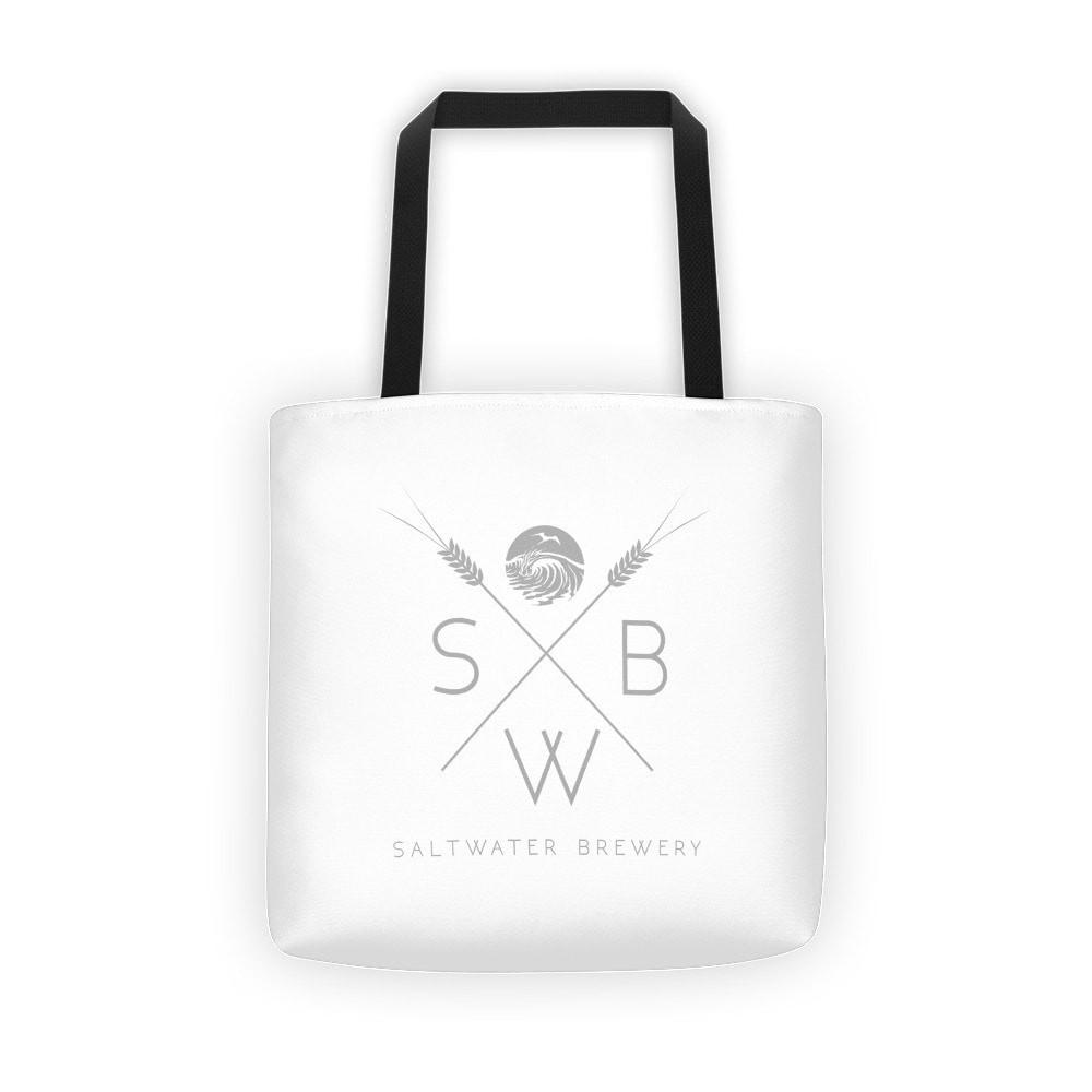 SaltWaterBrewery Grain Logo - Reusable Shopping Bag /Beach Tote