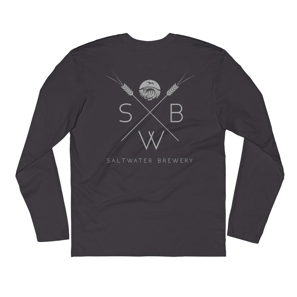 SaltWaterBrewery Grain - Long Sleeve Fitted Crew