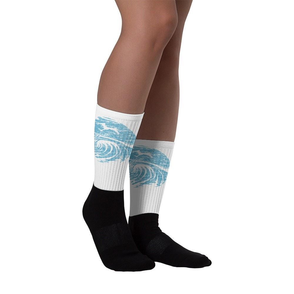 SaltWaterBrewery Ocean Blue Logo - Black foot socks