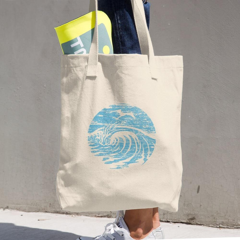 SaltWaterBrewery Ocean Blue Logo - Cotton Beach Tote