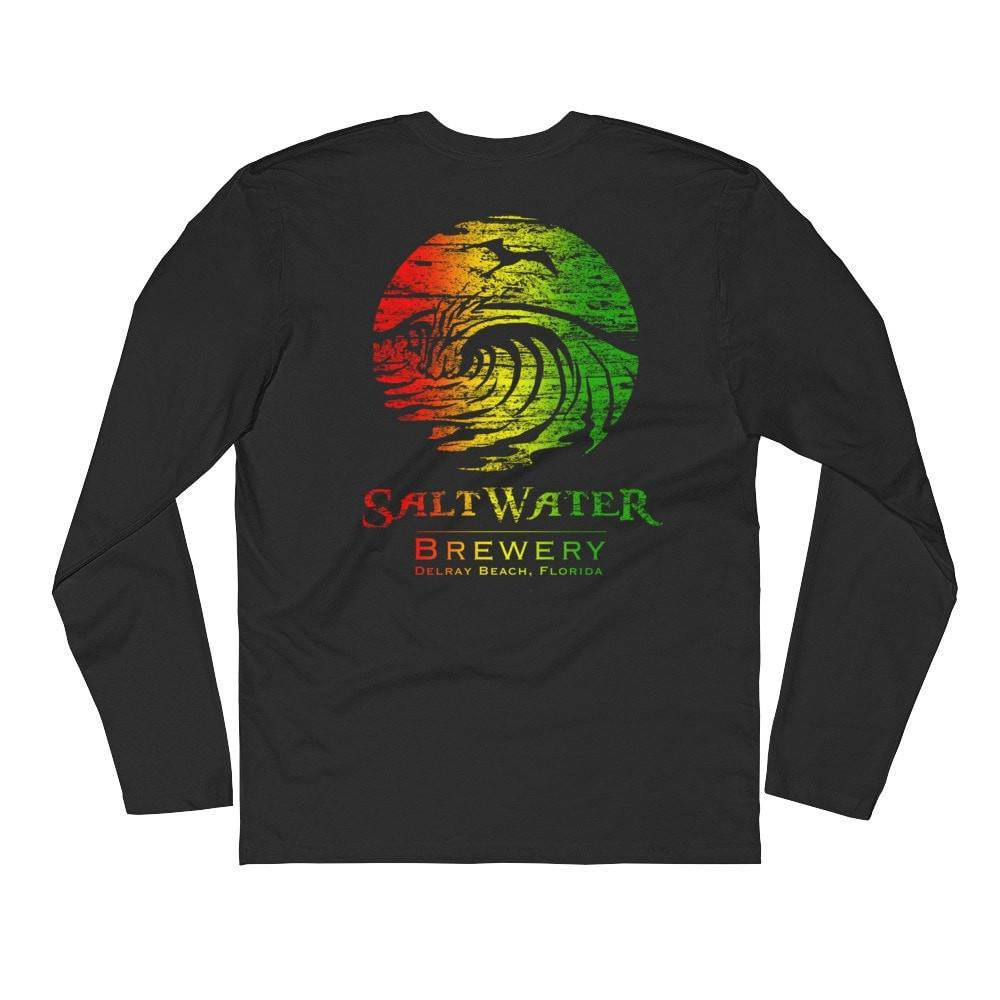 SaltWaterBrewery Rasta Logo - Long Sleeve Fitted Crew