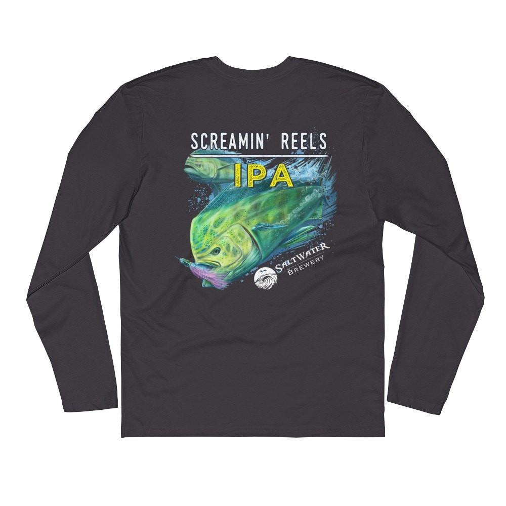 SaltWaterBrewery Screamin' Reels - Long Sleeve Fitted Crew