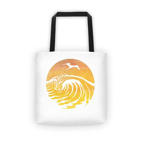 SaltWaterBrewery Sunset Logo - Reusable Shopping Bag /Beach Tote