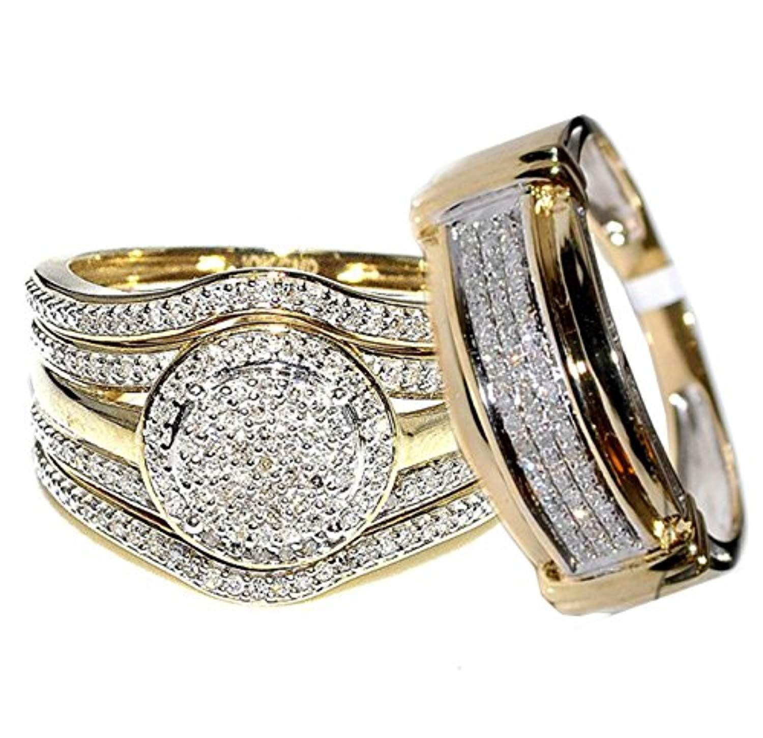 Certified 0 66carats 10k Yellow Gold Diamonds 19mm Wide Halo Style