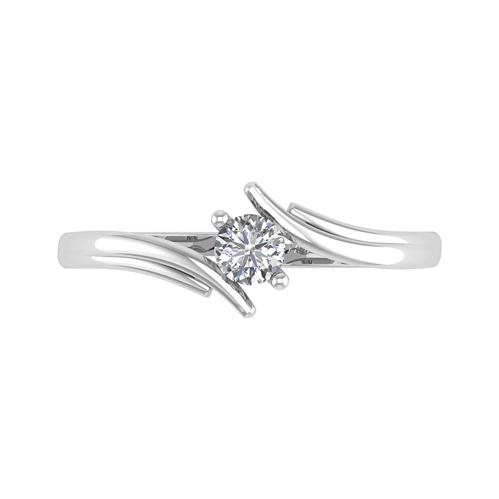 Engagement & Wedding Jewelry & Watches 1.5 Ct G-h Diamond By Pass Solitaire Marriage Engagement Ring 14k Yellow Gold