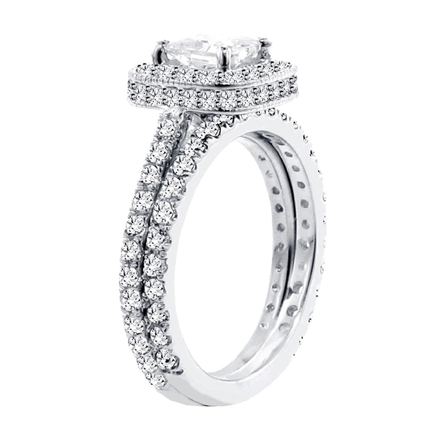 standing with engagement preset profile in double halo certified platinum shank diamond round i rings ring split side carat gia