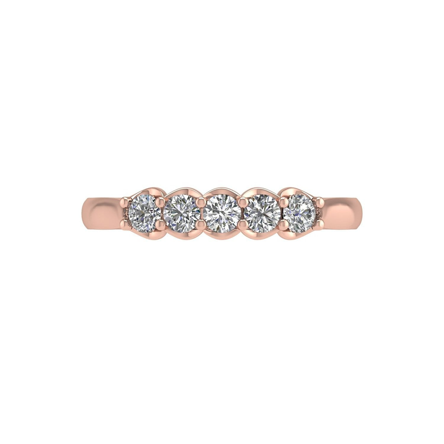 diamond ip bands ring carat engagement stone w anniversary in miabella t gold three white band