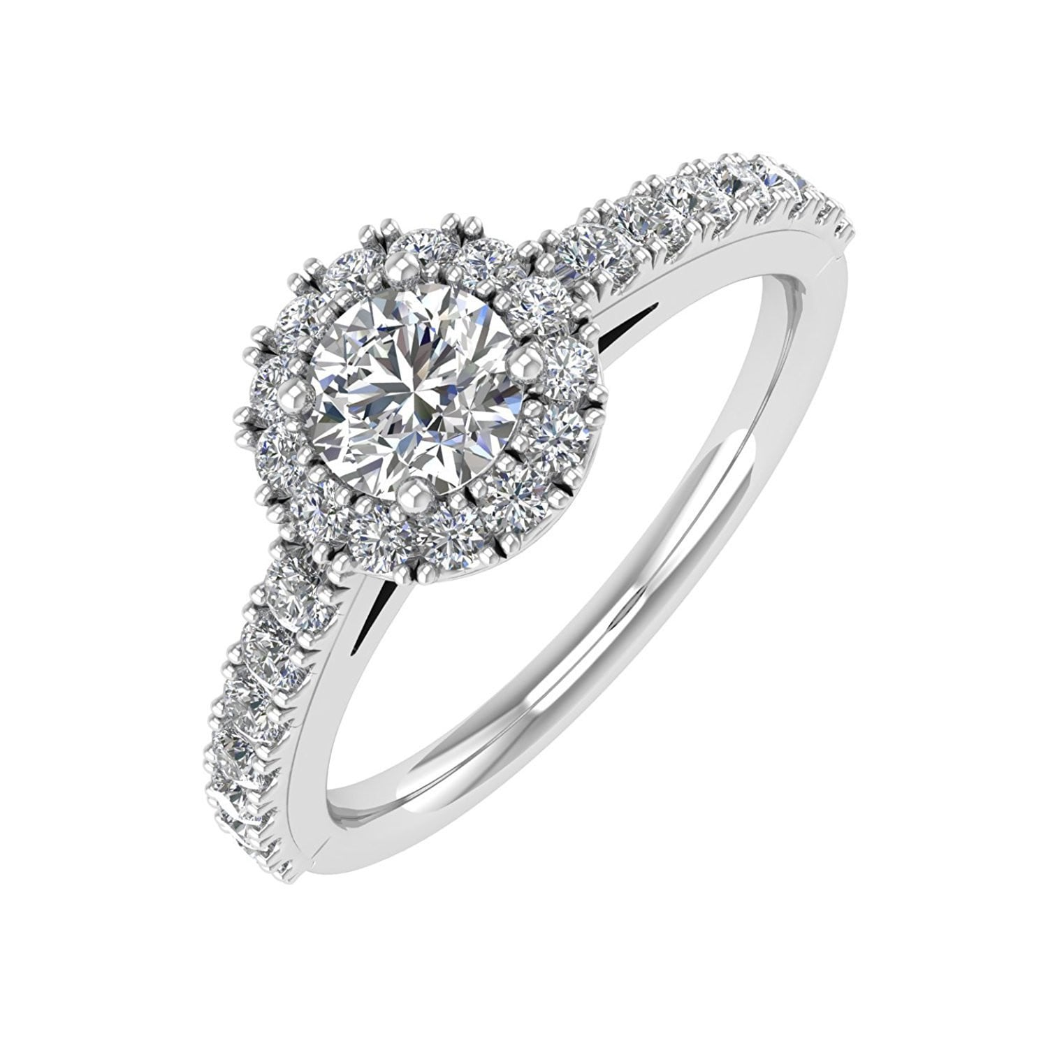 engagement rings white ring promise carat diamond filigree moissanite gold