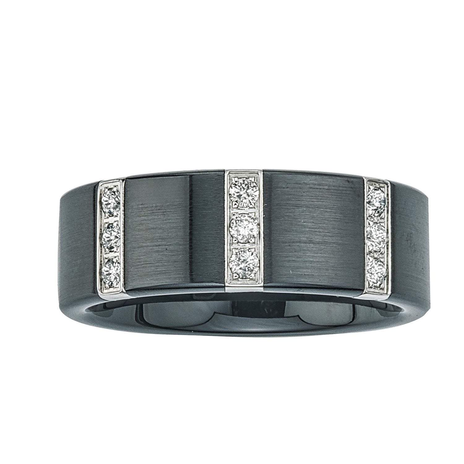 s carats and h men diamond dp stainless band black steel ceramic rings com i amazon engagement