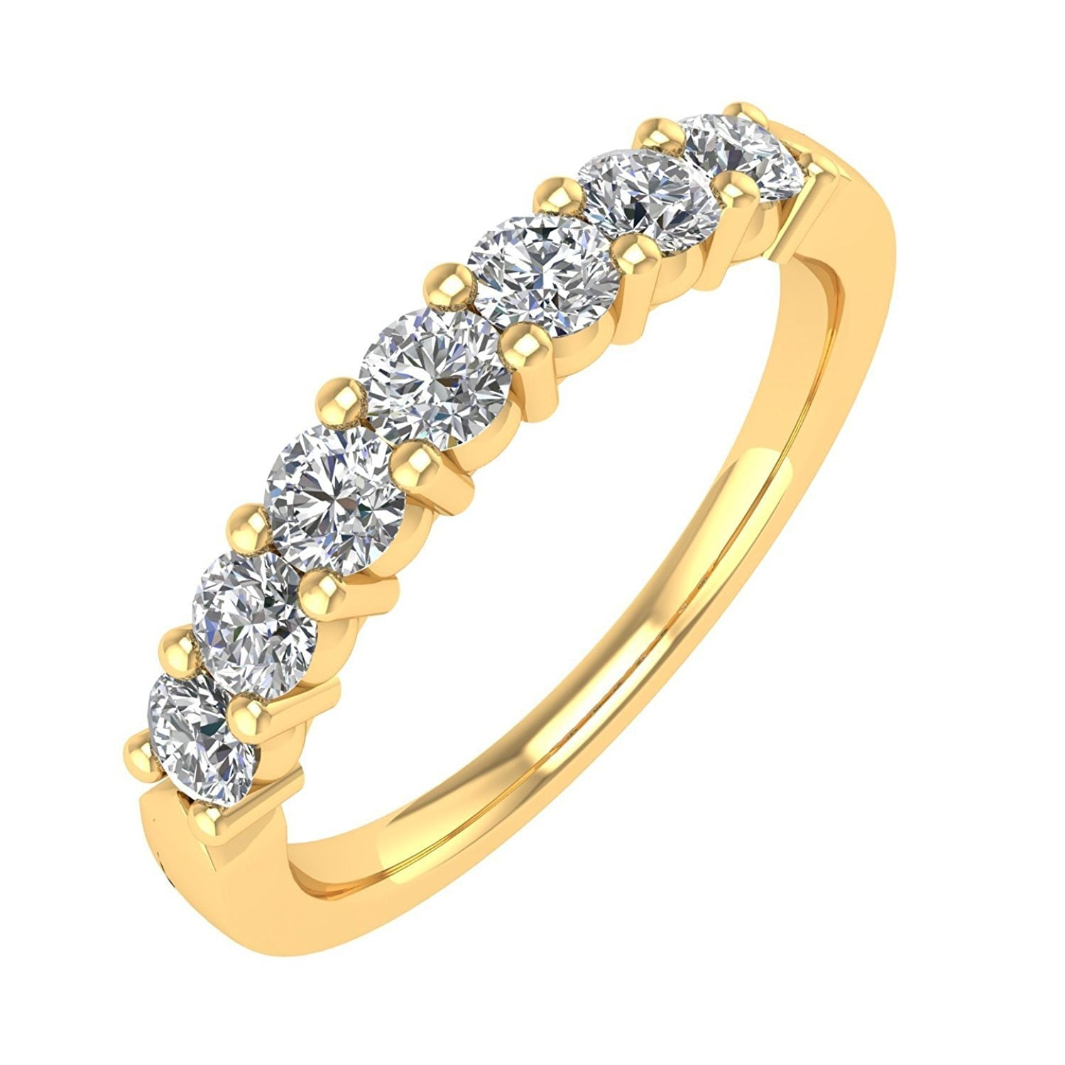 pin prong engagement round stone set diamond rings ring