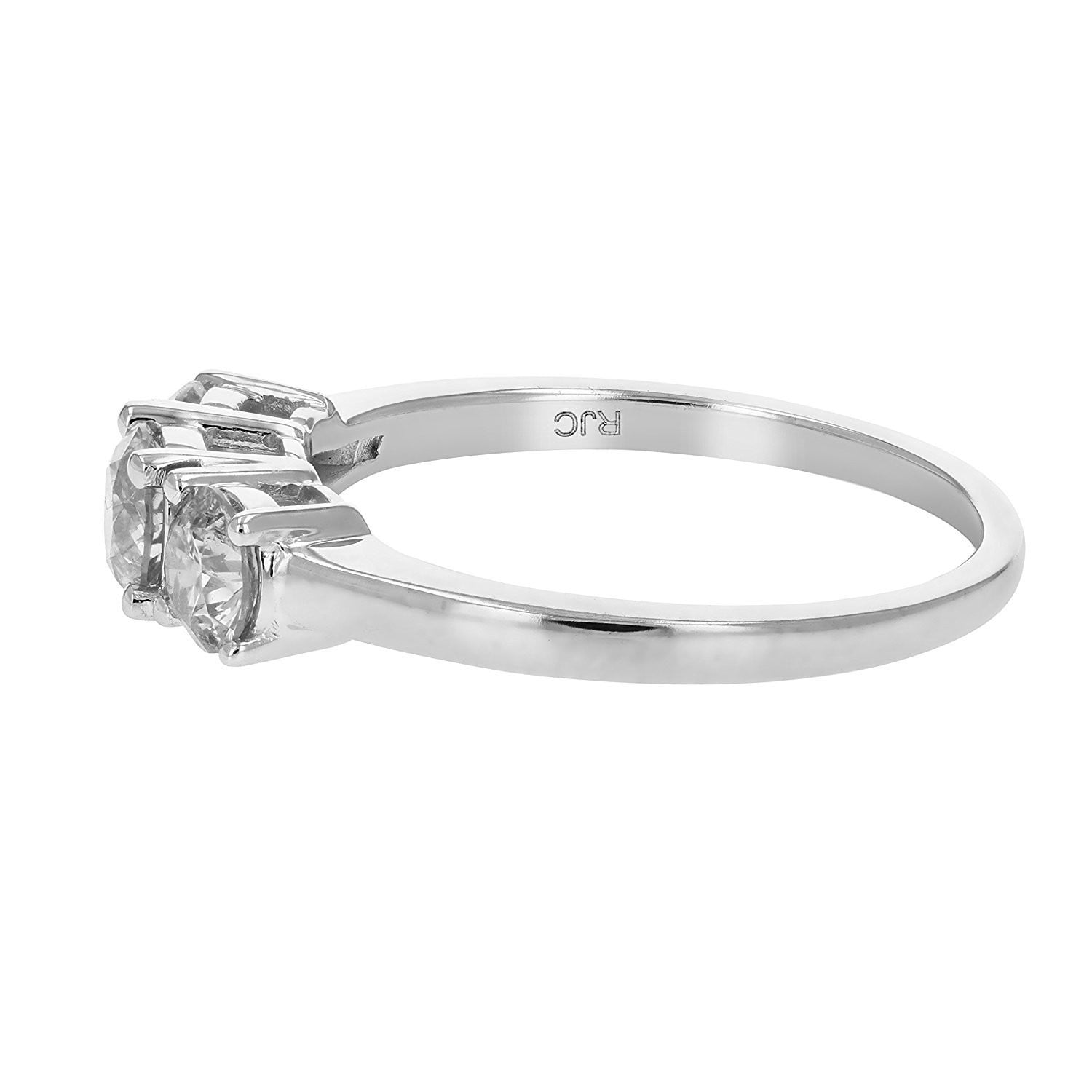 stone gold diamond three jewellery engagement in tw forevermark white ring