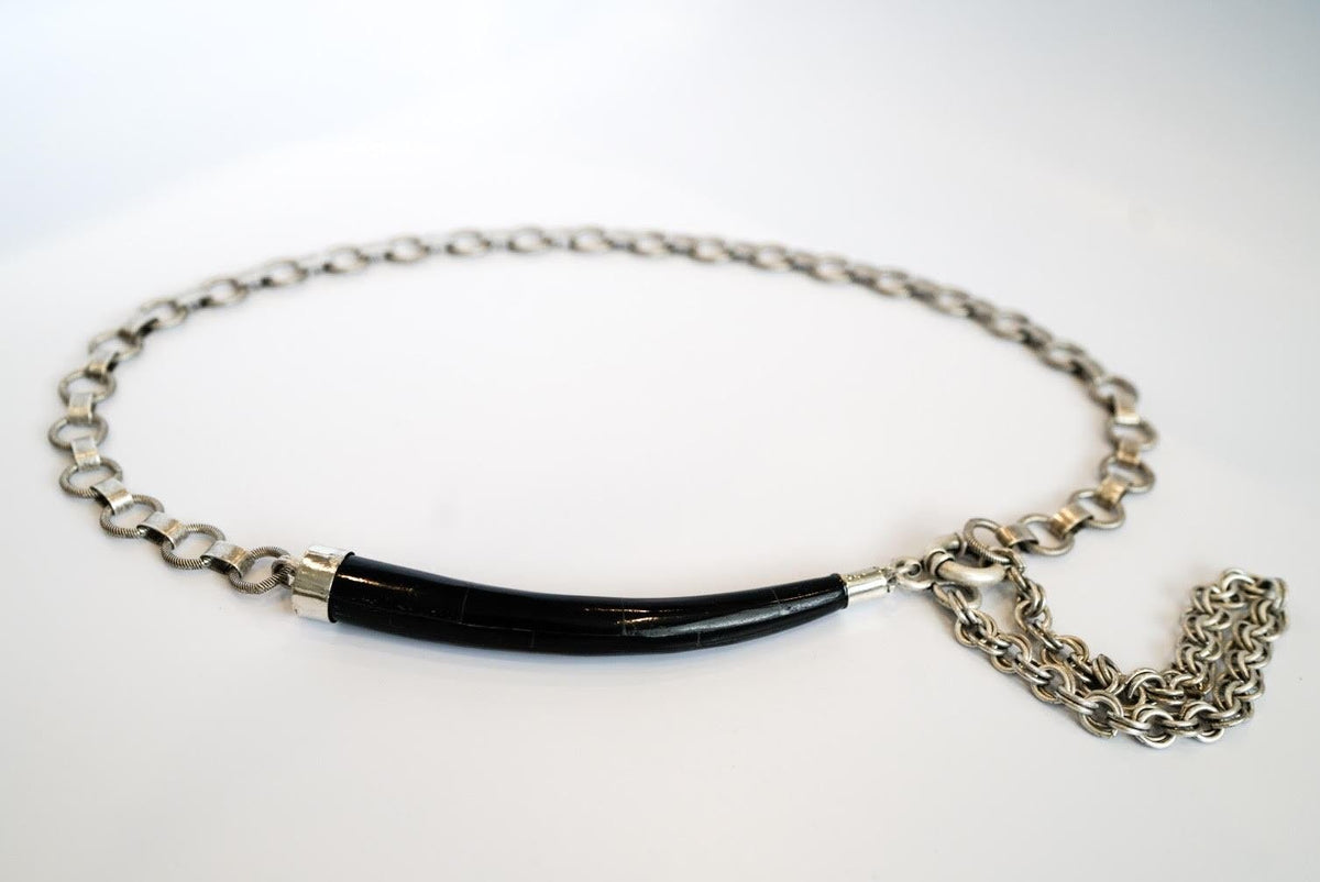 'Arlo' Waist Chain with Black Bone