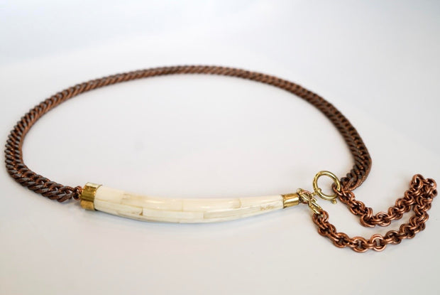 'Arlo' Waist Chain with White Bone