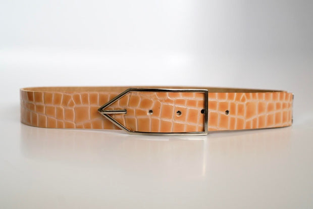 Poppy Patent Croc 'Brook' Waist Belt