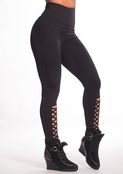 Criss Cross Lacing Fitness Leggings - Boss Bunny Sportswear