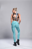 High Waist Ruffle Scrunch Leggings - Boss Bunny Sportswear