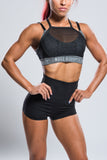 Layered Mesh Sports Bra - Boss Bunny Sportswear