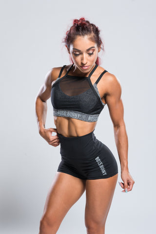 Layered Mesh Sports Bra