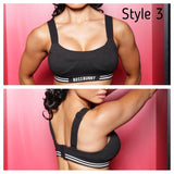 4-in-1 Convertible & Adjustable Straps Sports Bra - Boss Bunny Sportswear