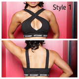 3-in-1 Convertible Straps Sports Bra - Boss Bunny Sportswear