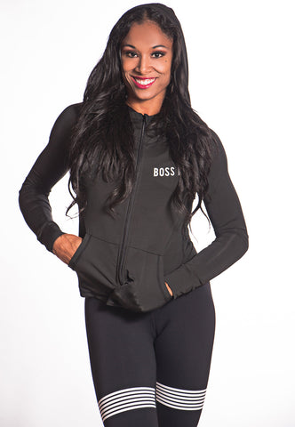 Relaxed Boss Bunny Jacket Hoodie for Workouts - Boss Bunny Sportswear