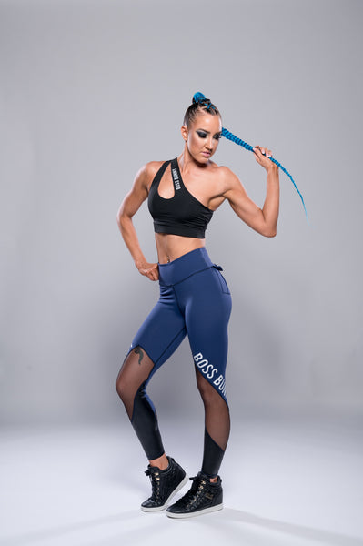 Sports Leggings with Cargo Pockets - Boss Bunny Sportswear