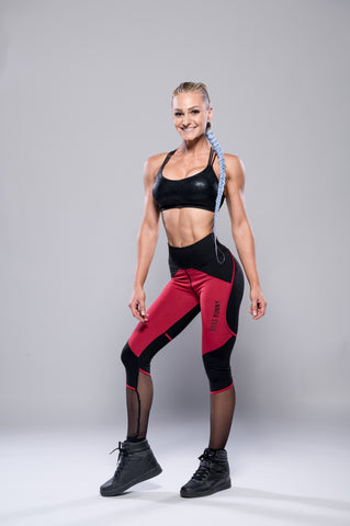 Red and Black Boss Bunny Leggings - Boss Bunny Sportswear