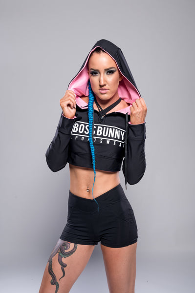Reversible Hoodie with 2 Styles of Wearing - Boss Bunny Sportswear