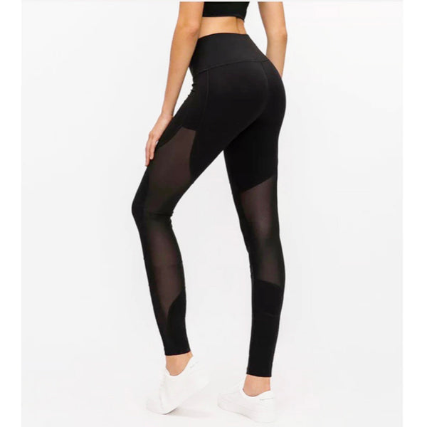 Long Leggings with Mesh Accents - Boss Bunny Sportswear