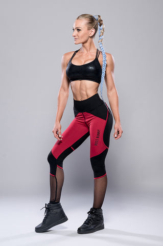 Red and Black Boss Bunny Leggings