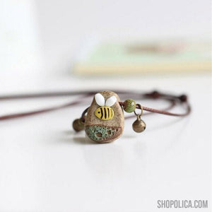 Hand Made Ceramic Bee Necklace