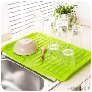 KITCHEN DISHES DRAINING RACK
