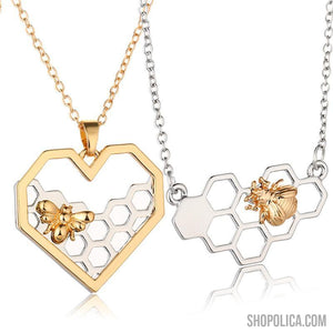 Limited Edition Honeycomb Heart Necklace