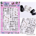 Nail Art Stickers-Nail Art Stickers-Shopolica-F123-Shopolica